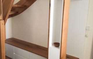 Innenausbau Treppe & Garderobe